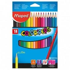 Գունավոր մատիտ Maped 18 գույն