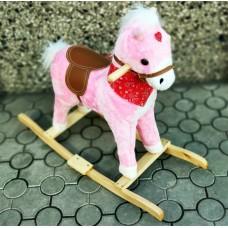 Փայտե ձի` վարդագույն