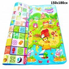 Двухстронний игровой детский термо коврик, 150 x 180 cm