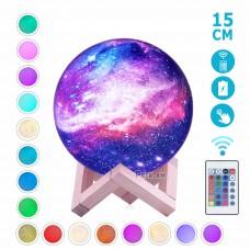 """Լուսամփոփ լուսին """" Գալակտիկա"""" ՝ հեռակառավարմամբ 16 գույն , 15սմ"""