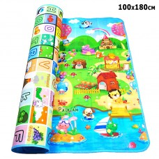 Двухстронний игровой детский термо коврик, 100 x 180 cm