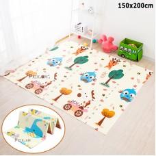 Двухстронний складной игровой детский термо коврик для ползания, 200 x 150 cm