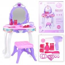 Մանուշակագույն զարդասեղան, աթոռով