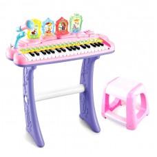 Детский пианино с микрофоном