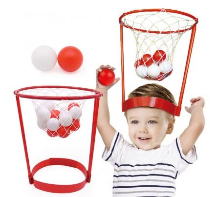 """Զվարճալի խաղ """" Basket Head """" 2 զամբյուղ 40 գնդակ"""