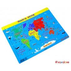 Փայտե փազլ-քարտեզ, աշխարհի քարտեզ