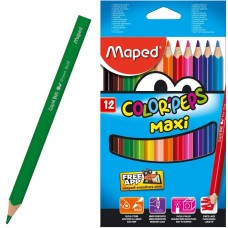 Գունավոր մատիտ Maped 12 գույն հաստ