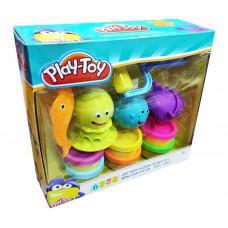 """Ծեփամածիկի հավաքածու """" Play Toy """" 6 գույն"""
