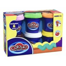 Ծեփամածիկի հավաքածու Colour-Dough 6 գույն