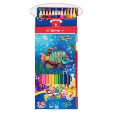 Գունավոր մատիտ Yalong 12 գույն, վրձինով